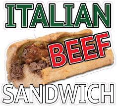 Business Industrial Restaurant Signs Italian Beef Sandwich 14 Decal Food Truck Concession Restaurant Vinyl Sticker Studio In Fine Fr