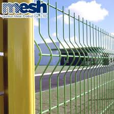 China Pvc Coated Welded 3d Curved Fence With Peach Post China Peach Post Fence And Peach Post Garden Fence Price