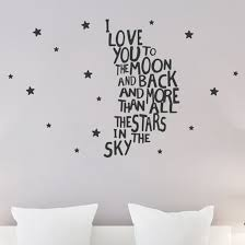Isabelle Max I Love You To The Moon And Back Wall Decal Wayfair