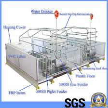 China Galvanized Poultry Farm Pvc Sow Pig Hog Piglet Farrowing Crates China Farrowing Crates Pig Crates