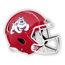 Fresno State Bulldogs New Shape Helmet Vinyl Die Cut Decal Sticker 4 Sizes