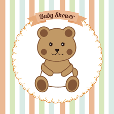 Cute Bear Cub In Diaper For Baby Shower Vinyl Decal Sticker Shinobi Stickers