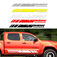 Kjautomax For Toyota Tacoma Silver Door Molding Guard Sill Vinyl Side Stripe Kit Decal Sticker Five Color Chices Car Stickers Aliexpress