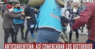 Incidentes en el Obelisco en una marcha de manifestantes ...