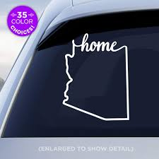 Amazon Com Arizona State Home Decal Az Home Car Vinyl Sticker Add A Heart Over Phoenix Tucson Mesa Chandler Scottsdale Yuma Tempe Made With Outdoor Vinyl Handmade