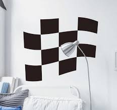 Checkered Racing Flag Wall Sticker Tenstickers