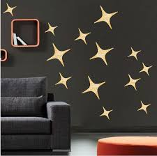 Gold Stars Wall Decals Christmas Murals Primedecals