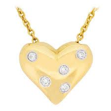 co etoile heart diamond pendant