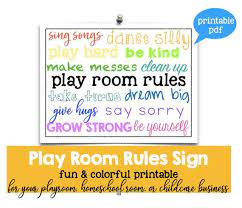 Play Room Rules Sign Daycare Home Kids Room Printable 8 X 10 Etsy