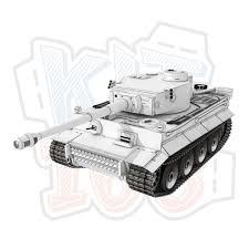 Mô hình giấy quân sự Xe tăng WWII Tiger I Trắng