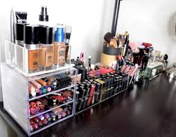 organize your makeup in a small e