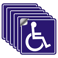 Handicap Stickers Decals Handicap Stickers Disabled Wheelchair Sign 6 Pack 6x6 Inch Self Adhesive Vinyl Decal Stickers Reflective Uv Protected Waterproof Amazon Com Industrial Scientific