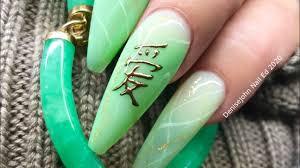 nail with black art gel foil