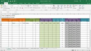 salary increase template excel
