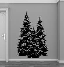 Millwood Pines Pine Evergreen Tree Forest Vinyl Wall Decal Wayfair