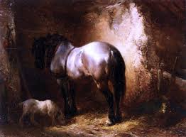 Wouterus Verschuur A Horse In A A Stable 21 X28 Wall Decal Farmhouse Wall Decals By Art Megamart