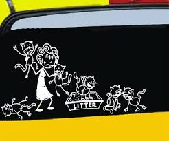 Crazy Cat Lady Car Decals Crazy Cats Car Decals Crazy Cat Lady