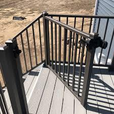 Tuscany Adjustable Gate By Westbury Aluminum Railing Decksdirect