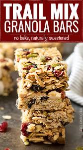 no bake chewy trail mix granola bars