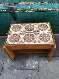 retro tiled top coffee table vintage