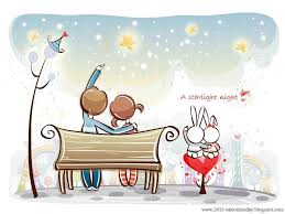 cute cartoon love couple wallpapers