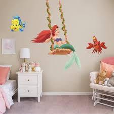Fathead Ariel Swinging Officially Licensed Disney Removable Wall Decal Walmart Com Walmart Com