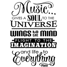 Amazon Com Js Artworks Music Gives A Soul To The Universe Wings To The Mind Flight To The Imagination And Life To Everything Vinyl Wall Art Decal Sticker Home Kitchen