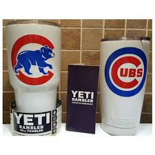 Yeti Authentic Chicago Cubs Yeti Cup Mug 20 Oz Or 30 Oz Personalized Cups Bear Cup Things To Sell