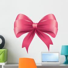 Pink Ribbon Bow Wall Decal Wallmonkeys Com