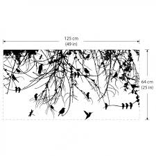 Tree Branch With Birds And Dragonfly Vinyl Wall Art Decal