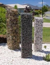 Gabion Pillars Decorative Garden Fencing Landscaping Retaining Walls Garden Fencing