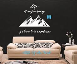 Life Is A Journey Explore Wall Decal Nature Sticker Art Decor Bedroom Design Mural Home Decor Mother Nature Art Sticker Art Wall Decals Nature Stickers