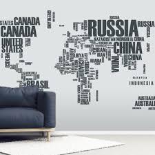 World Map Word Cloud Wall Mural Wallsauce Us