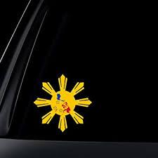 Amazon Com Philippine Flag Sun Star Island Car Decal Stickers Automotive