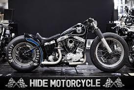 hide night sky bobber shovelhead bike