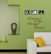 Removable Black Quotes Wall Decals A Moment In Time Changed Forever Quote Sticker Decal Vinyl Wall Art Sticker Living Room S081 Wall Stickers Aliexpress