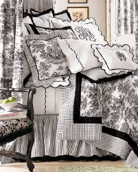 black white toile french style guest