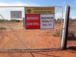 Sign at the Queensland border in the ...