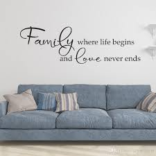 Family Where Life Begins And Love Never Ends Art Design Vinyl Wall Sticker Quotes Creative Character Home Decor Family Decals Nursery Wall Sticker Nursery Wall Stickers From Joystickers 7 88 Dhgate Com