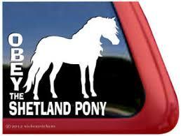 Obey The Shetland Pony High Quality Vinyl Equine Horse Window Decal Sticker Ebay