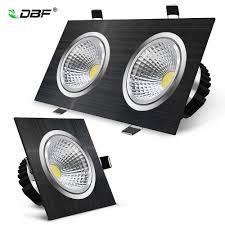 Đen Âm Trần Vuông LED COB Đèn Downlight 7W 9W 14W 18W 24W 30W Đèn đèn  Downlight Âm Trần LED COB Đèn AC90 265V 3000K|downlight cob|dimmable led  downlight cobled downlight cob -
