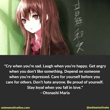 relatable anime quotes about depression you won t forget