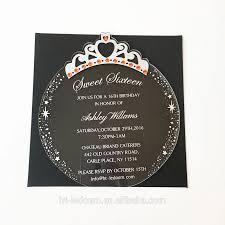 Tarjeta De Invitacion De Cumpleanos De Acrilico Transparente Con