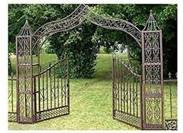 Large Decorative Gate Door Arch Garden Fence Fence Cast Iron And 5 M25 Amazon Co Uk Garden Outdoors