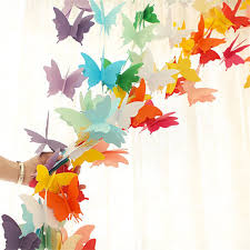 Buy 3d Butterfly Paper Garland Wedding Birthday Party Hanging Banner Kids Room Decor By Newpee On Opensky
