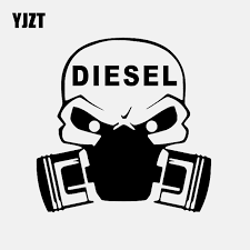 Yjzt 15cm 15cm Diesel Vinyl Decal Gas Mask Car Sticker Black Silver C3 1040 Buy At The Price Of 1 08 In Aliexpress Com Imall Com