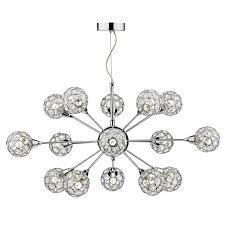 crystal modern light for tall ceilings