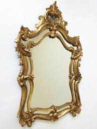 wood carved gold gilt mirror