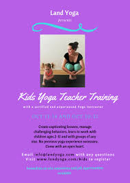 kids yoga teacher land yoga