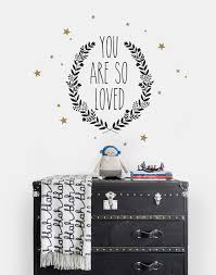You Are So Loved Quote Lettering Wall Decal Contemporary Wall Decals By Simple Shapes